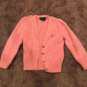 Ralph Lauren cardigan sweater toddler 3T pink